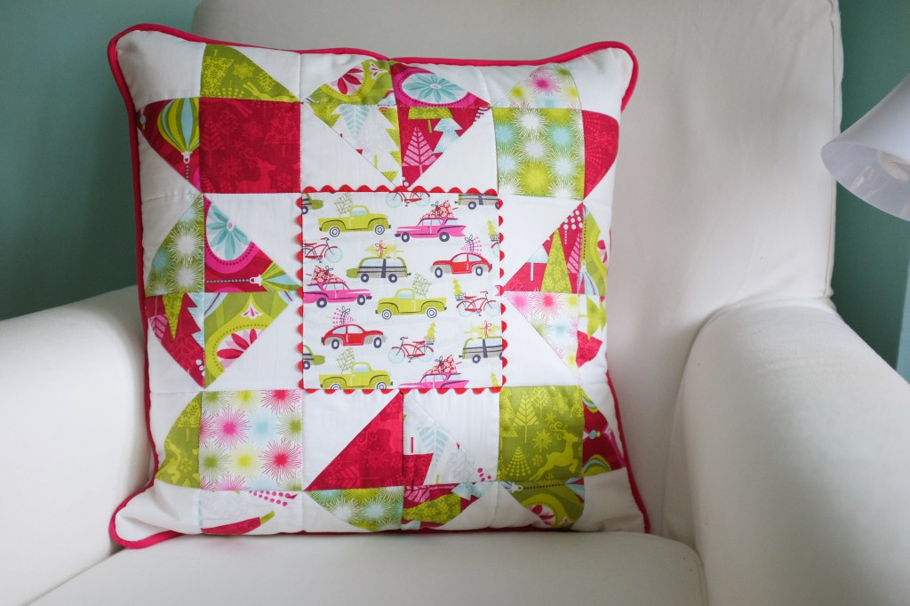 Love in a Mist pillow using Blend's Hip Holiday