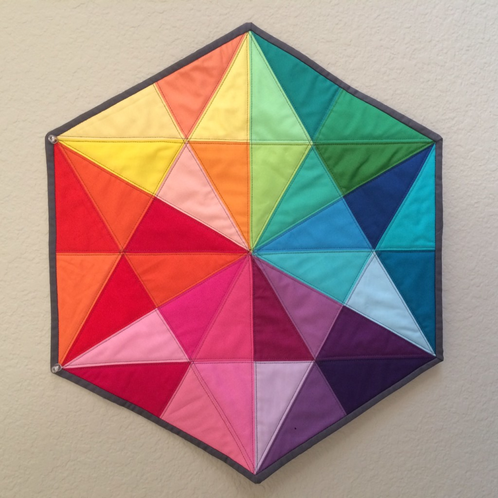 Finished EPP Triangle Medallion